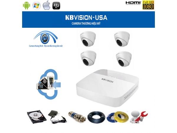 Trọn bộ camera KBVision 4 Kênh KX-7104TD4 1.0Mpx