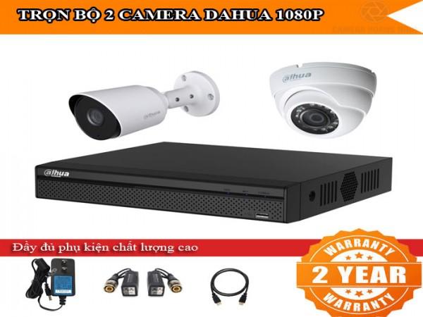 Trọn bộ 2 - 4 camera DAHUA HD1080P cho văn phòng